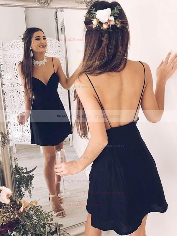 Chiffon A-line V-neck Short/Mini Prom Dresses #JCD020106309
