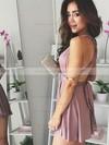 Jersey A-line V-neck Short/Mini Prom Dresses #JCD020106316