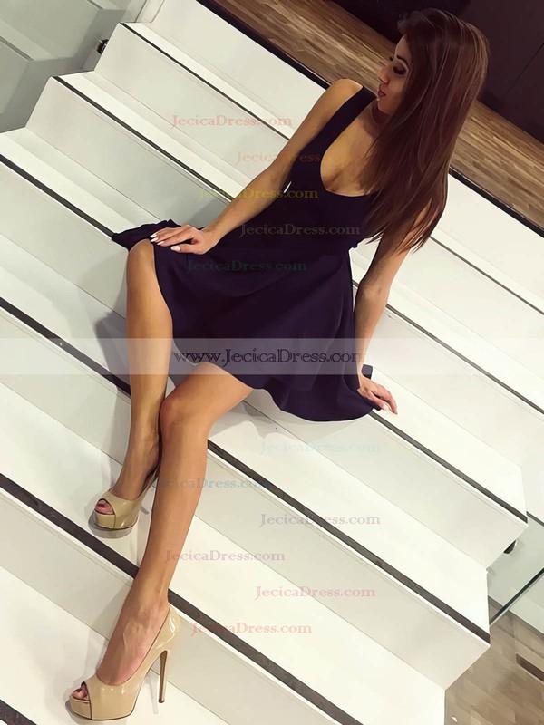 Silk-like Satin Princess V-neck Short/Mini Tiered Prom Dresses #JCD020106325