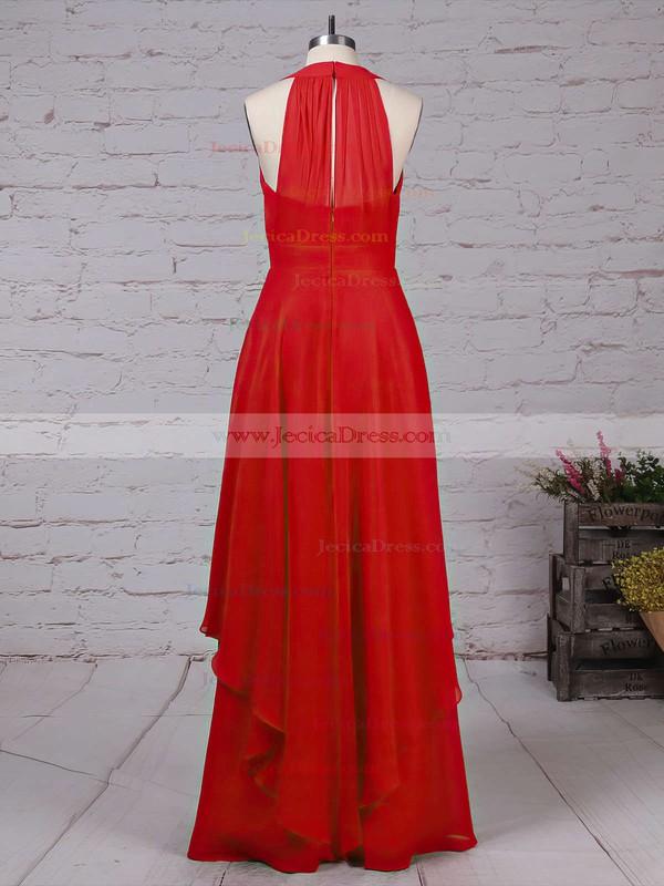 Chiffon A-line V-neck Floor-length Ruffles Bridesmaid Dresses #JCD01013526