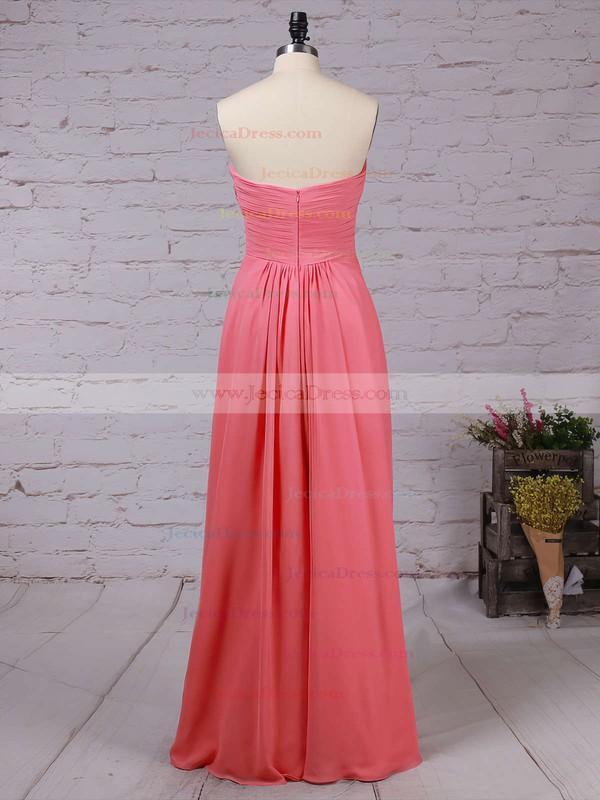 Chiffon Empire Sweetheart Floor-length Ruffles Bridesmaid Dresses #JCD01013531