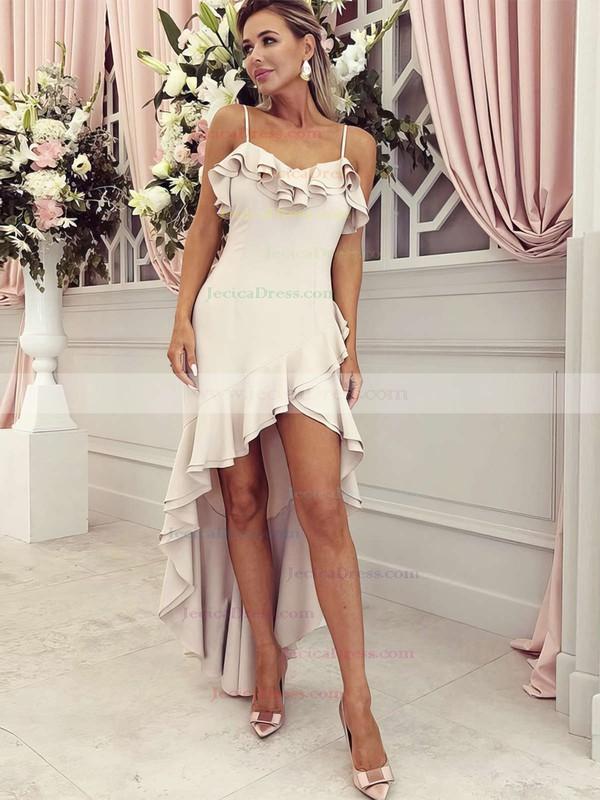 Chiffon A-line V-neck Asymmetrical Ruffles Bridesmaid Dresses #JCD01013645