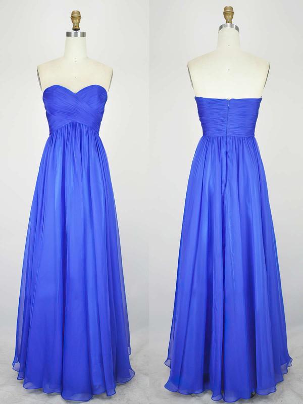 Empire Sweetheart Chiffon Floor-length with Pleats Bridesmaid Dresses #JCD010020104239