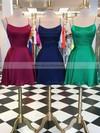 Silk-like Satin A-line Halter Short/Mini Prom Dresses #JCD020106397