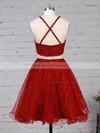 Lace Tulle Princess Square Neckline Short/Mini Beading Prom Dresses #JCD020105897