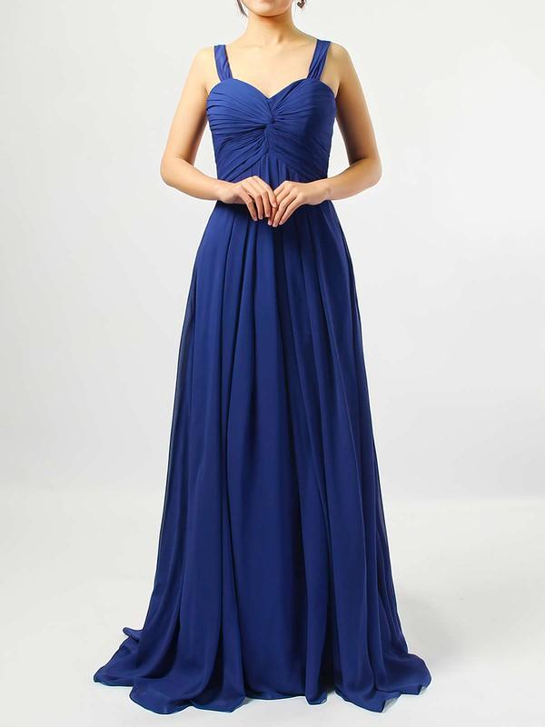 Empire Sweetheart Chiffon Floor-length Criss Cross Bridesmaid Dresses #JCD01013545