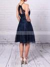 Sheath/Column Scoop Neck Lace Short/Mini Prom Dresses #JCD020105902