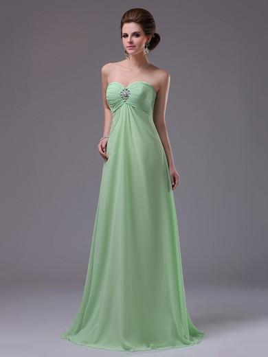 Ladies Empire Chiffon Pleats Beading Sweetheart Prom Dresses #JCD02014403