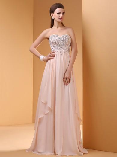 Original Sweetheart Chiffon Sequins Empire Prom Dresses #JCD02060459