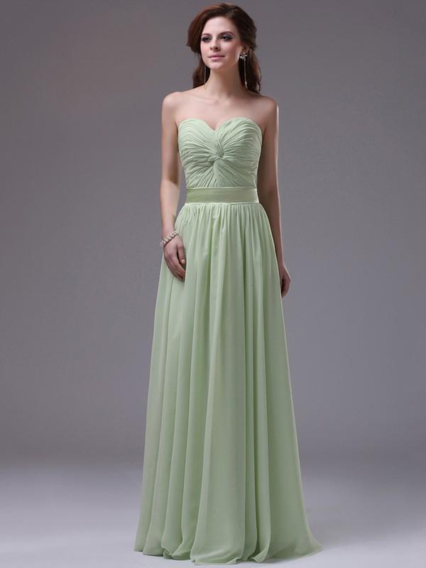 Chiffon Tulle A-line Sweetheart Floor-length Criss Cross Prom Dresses #JCD02130048